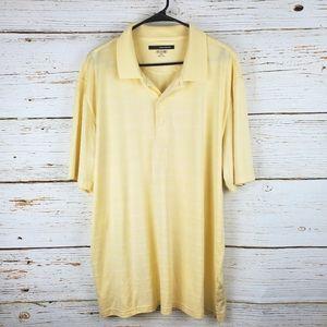 Greg Norman Play Dri Light Yellow Golf Shirt